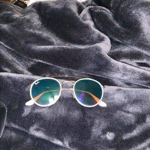 Ray van round double bridge sunglasses